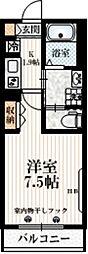 京王井の頭線 西永福駅 徒歩3分の賃貸マンション 2階1Kの間取り