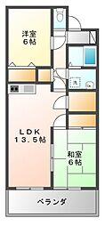 愛知県豊橋市橋良町字西中山の賃貸マンションの間取り