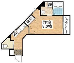 JR関西本線 加美駅 徒歩8分の賃貸アパート 1階1Kの間取り