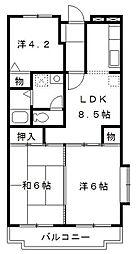 コルテ・フロリーダ豊玉[2階]の間取り