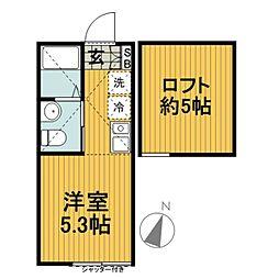 ランド横浜ウエスト[205号室]の間取り