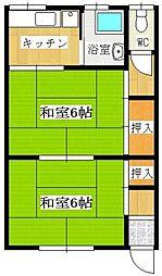 ひまわり荘[105号室]の間取り