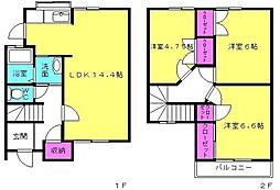 ロレーヌハイツ宝殿6[102号室]の間取り