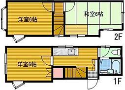 [一戸建] 東京都昭島市拝島町2丁目 の賃貸【/】の間取り