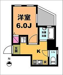 月村マンションNo25[4階]の間取り