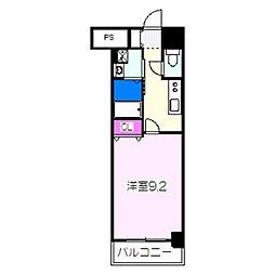 JR阪和線 津久野駅 徒歩6分の賃貸マンション 4階1Kの間取り