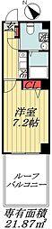東京メトロ東西線 南行徳駅 徒歩3分の賃貸マンション 2階ワンルームの間取り