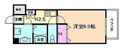 コンソラーレ土佐堀[5階]の間取り
