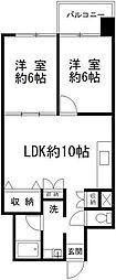 新大塚共同住宅 10階2LDKの間取り