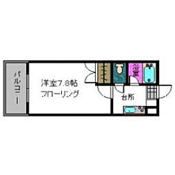 メゾンレジュール松山[201号室]の間取り