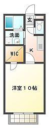 愛知県豊田市上原町西山の賃貸アパートの間取り