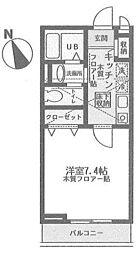 神奈川県横浜市青葉区荏田北2丁目の賃貸アパートの間取り