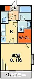 JR総武線 千葉駅 バス9分 四街道入り口下車 徒歩1分の賃貸マンション 1階1Kの間取り