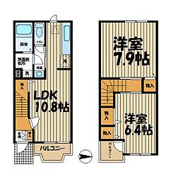 [テラスハウス] 神奈川県横浜市栄区公田町 の賃貸【/】の間取り