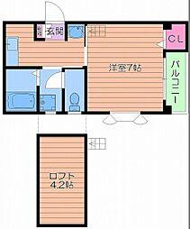 コンフォートワン[3階]の間取り