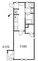 東急目黒線 武蔵小山駅 徒歩8分の賃貸マンション 3階1Kの間取り