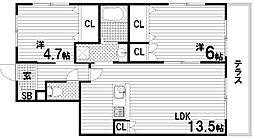 Maison Kannade[1階]の間取り