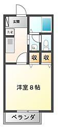 愛知県豊橋市宮下町の賃貸アパートの間取り