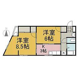 土屋ビル[3階]の間取り