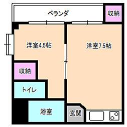 レオハイム津田1[2階]の間取り