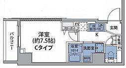 JR中央線 中野駅 徒歩8分の賃貸マンション 3階1Kの間取り