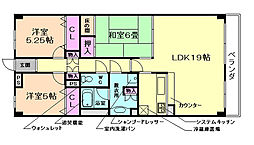 大阪府豊中市長興寺北3丁目の賃貸マンションの間取り