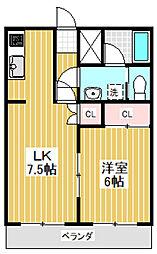 東京都杉並区下井草5丁目の賃貸マンションの間取り