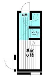 東京都練馬区向山3丁目の賃貸アパートの間取り