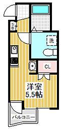 東京都杉並区高円寺南4丁目の賃貸マンションの間取り