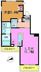 (仮称)平田3丁目メゾン 1階1LDKの間取り