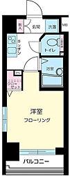東京都中央区月島1丁目の賃貸マンションの間取り