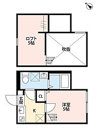 ワンズアヴェニール淵野辺(ワンズアヴェニールフチノベ)[2階]の間取り