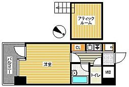 ピュアドーム博多アソシア[902号室]の間取り