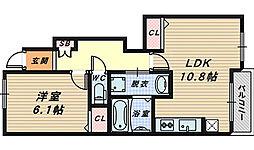 大阪府和泉市伏屋町4丁目の賃貸アパートの間取り