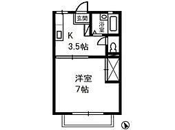 メゾンエポック B[1階]の間取り