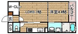 JR東海道・山陽本線 高槻駅 徒歩24分の賃貸マンション 1階1LDKの間取り