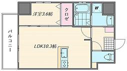 ウインステージ箱崎II[603号室]の間取り
