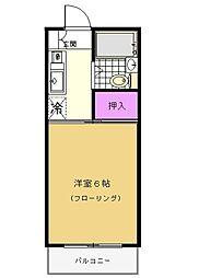 シャトール田口I[2階]の間取り