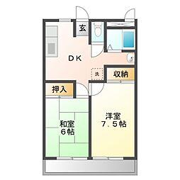 岡崎第8東海ビル[3階]の間取り