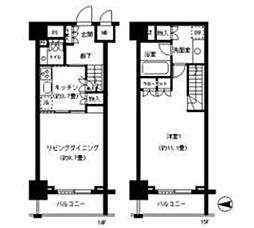 パークキューブ神田[14階]の間取り
