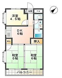 愛知県豊田市今町1丁目の賃貸マンションの間取り