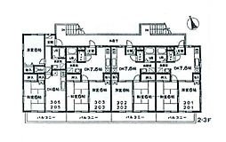 ブレッザ22[3階]の間取り