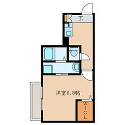 JR総武本線 船橋駅 徒歩7分の賃貸アパート 1階1Kの間取り
