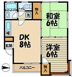 コーポ加藤[201号室]の間取り