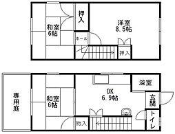 福岡県福岡市中央区六本松1丁目の賃貸アパートの間取り