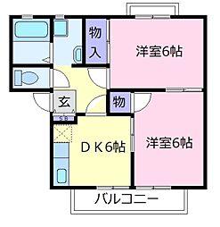 シャルマン島泉A棟[1階]の間取り