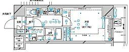 メインステージ板橋本町駅前II 11階1Kの間取り