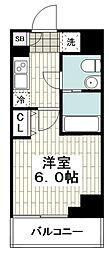 レガーロ吉野町 2階1Kの間取り