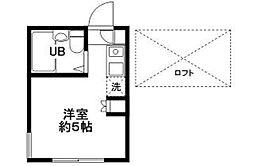 ピュアハウス妙蓮寺[102号室]の間取り