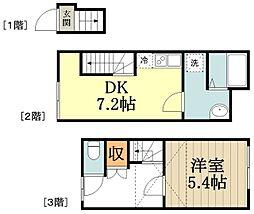 サンコート小金井本町1号館 2階1SDKの間取り